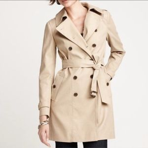 Ann Taylor Military Style Trench Coat Jacket Small
